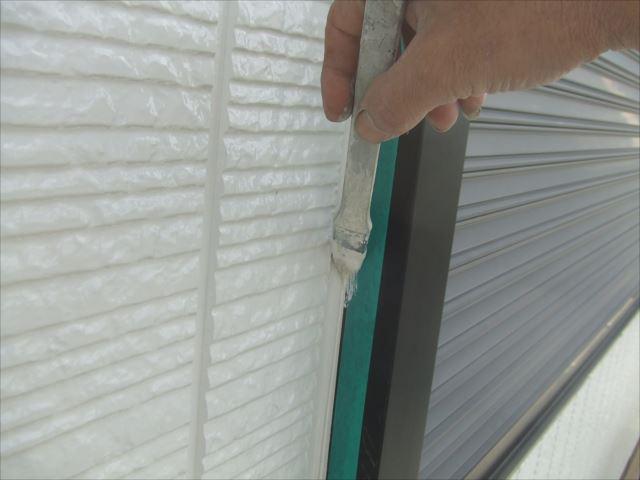 2階サイディング外壁ライン取り、コスモマイルドシリコン2
