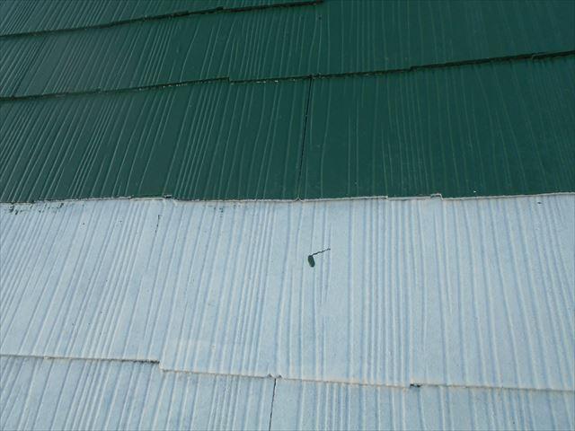 Y邸屋根中塗り