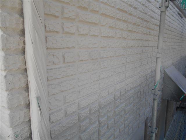 S邸壁中塗り2階