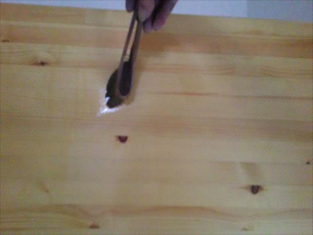 木梁クリヤー塗装