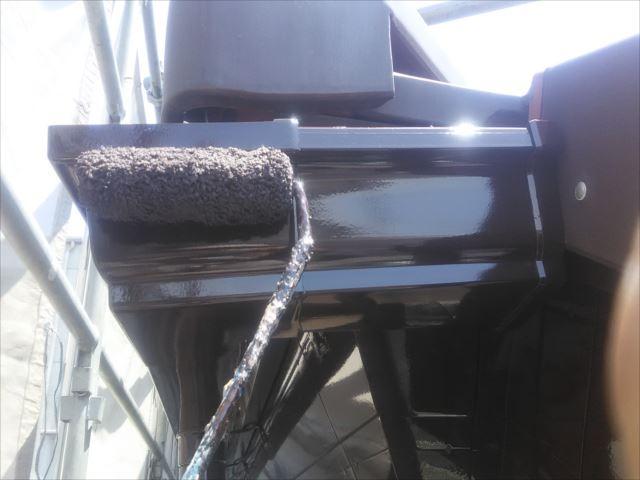 雨樋仕上げ塗装、コスモマイルドシリコン2