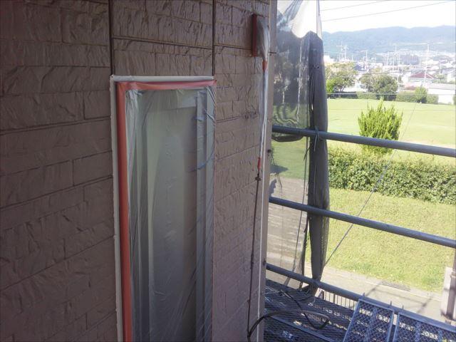 サッシ窓周りビニール養生