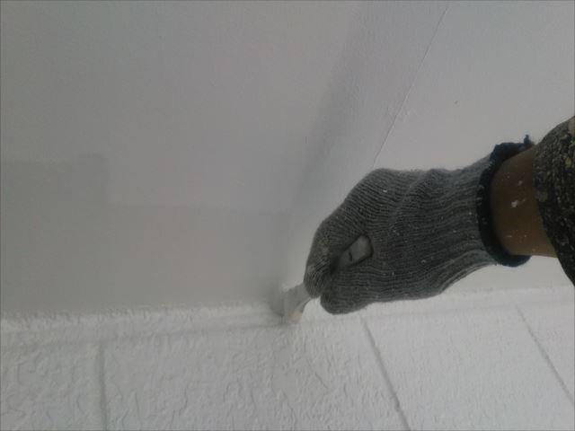 軒天塗装、セラマイルド