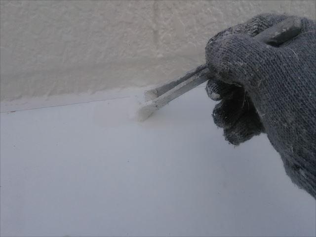 霧除け鉄板塗装