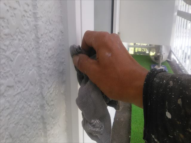 サッシ窓枠掃除