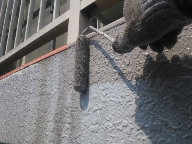 車庫入口部分の塗装