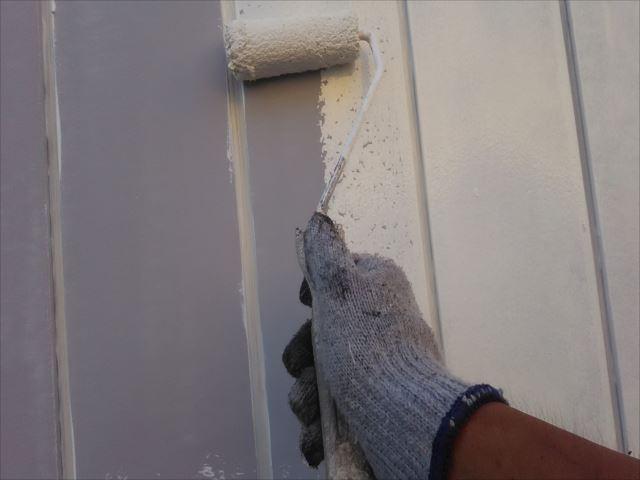 外壁錆止め下塗り