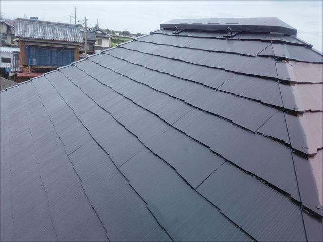 屋根仕上げ塗装完了