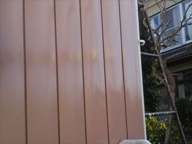 外壁中塗り(着色1回目)後