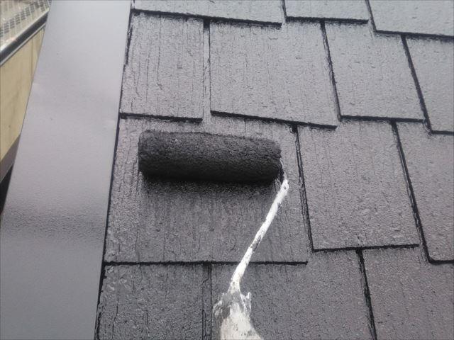屋根着色2回目仕上げ塗装