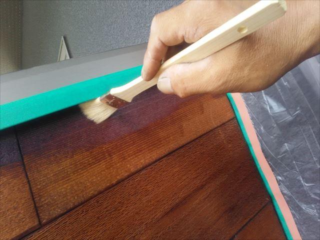 木製衝立塗装