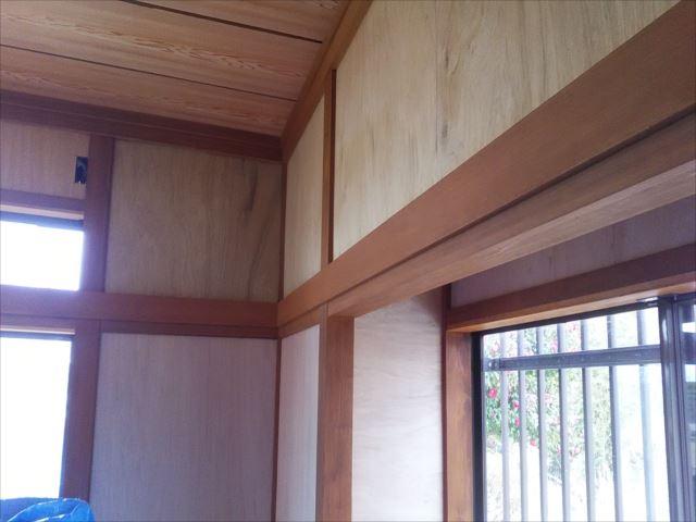 内部木塗装