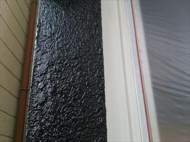 モルタル部分外壁着色後