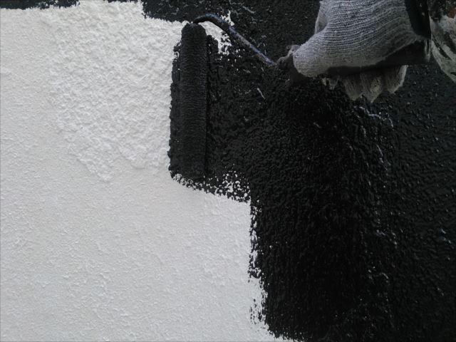 モルタル部分外壁着色