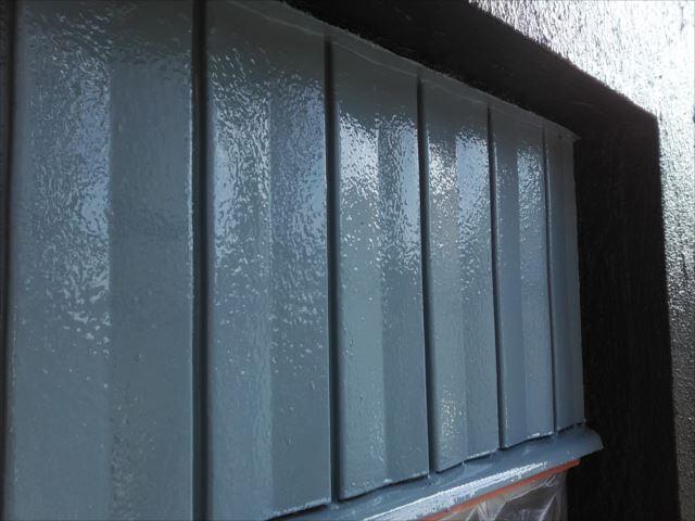 鉄板サイディング塗装完了