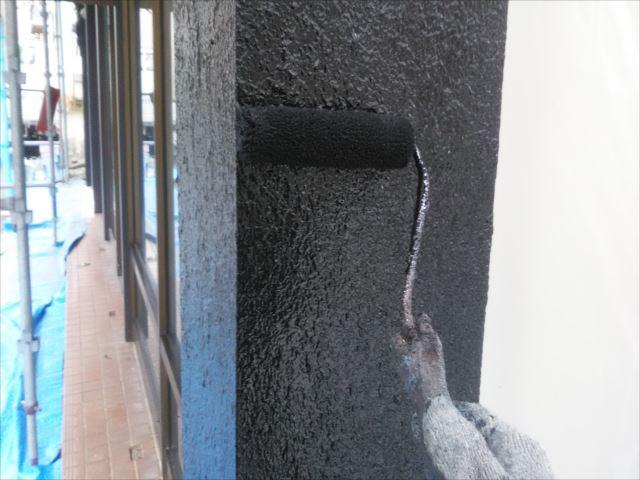 モルタル部分外壁仕上げ塗装