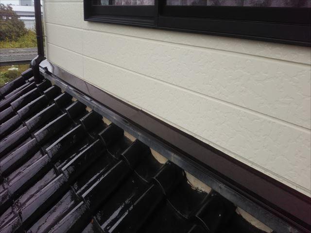水切り塗装(1階屋根上)