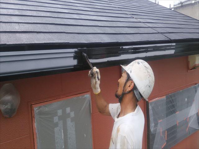 雨樋、破風板塗装