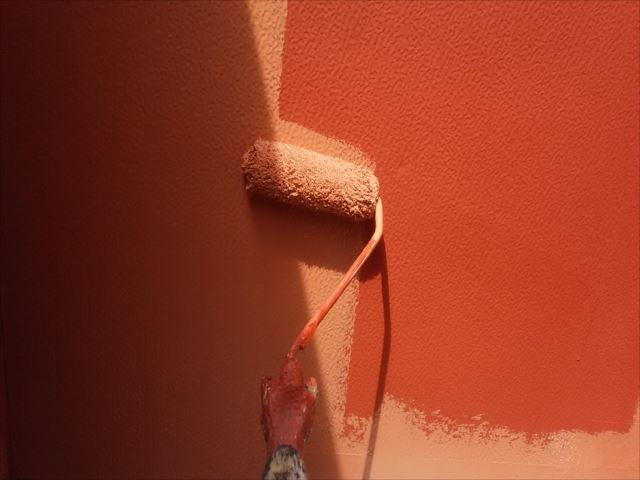 ベランダ袖壁塗装
