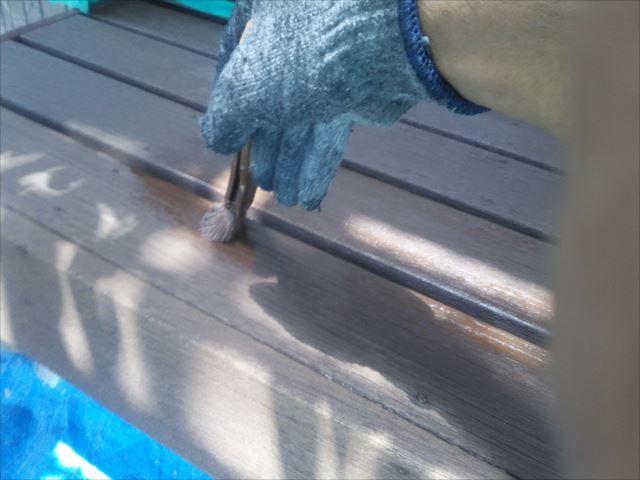 濡れ縁塗装