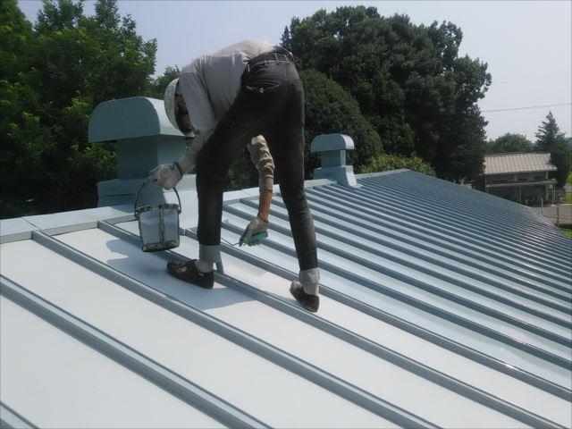 瓦棒屋根着色1回目
