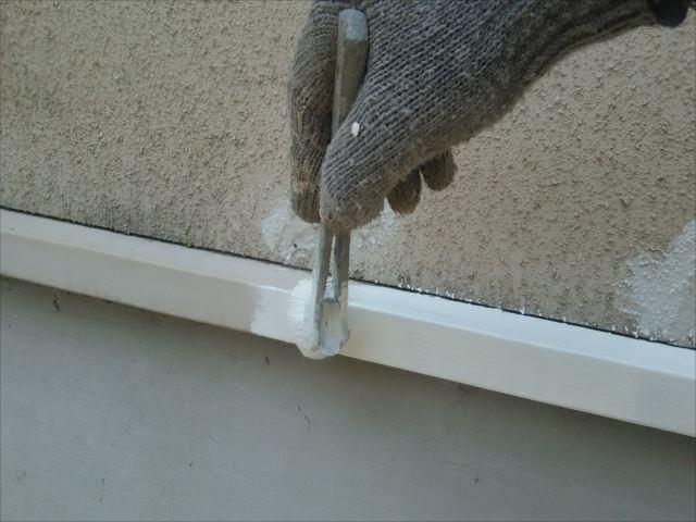 鉄板水切り錆止め下塗り