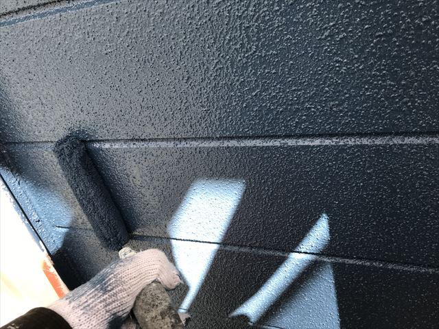 外壁上塗り2工程目