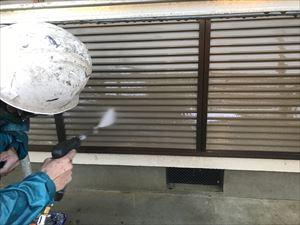 雨樋高圧洗浄作業
