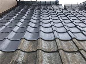 屋根 中塗り 経過