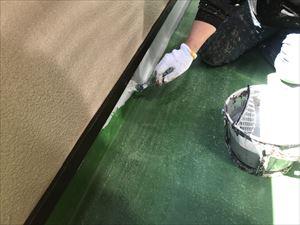 防水塗装 下塗り1回目