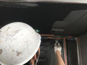 玄関前 軒天塗装
