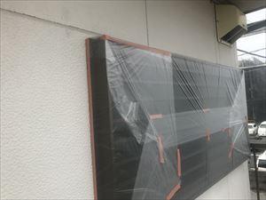 サッシ窓のビニール養生